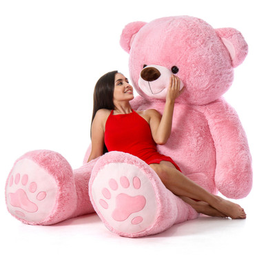 Super Soft Premium Quality Pink Giant 7 Foot Teddy Bear - Perfect Valentine