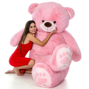 7 Foot Giant Teddy Bear - The World's Biggest Teddy Bear in Pink!