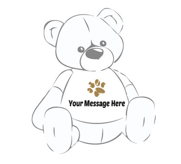 Huge Teddy Bear Paw Print T-shirt