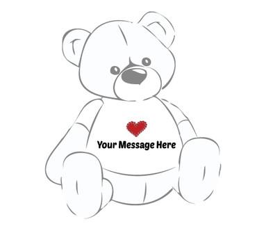 Heart Stamp T-shirt for Teddy Bear