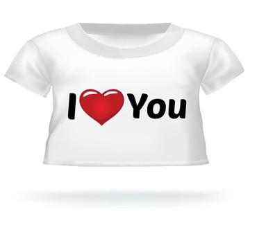 I Heart You Giant Teddy Bear T-shirt