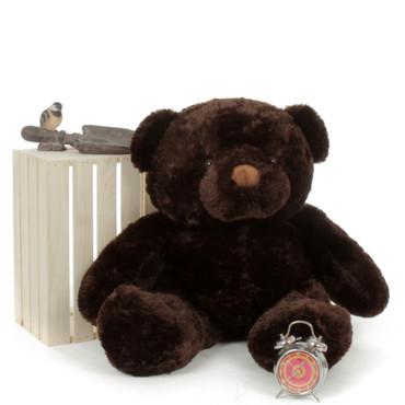 Cuddly Huge Teddy Bear Dark Brown Munchkin Chubs 38in by Giant Teddy