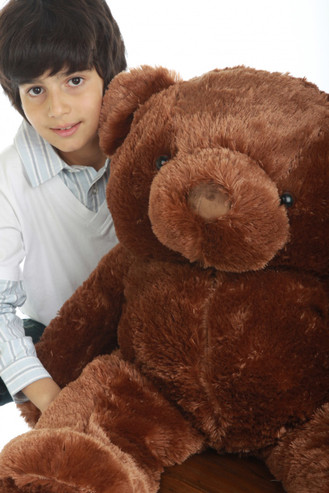 38in Buttercup Chubs chestnut brown teddy bear