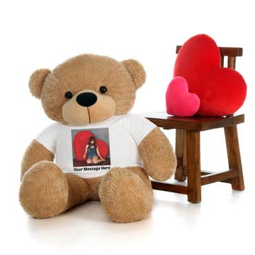 4 Foot Custom Photo Teddy Bear Valentine's Day Gift