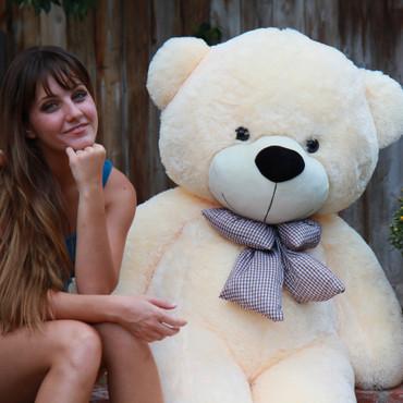 Cozy Cuddles cream teddy bear 72in