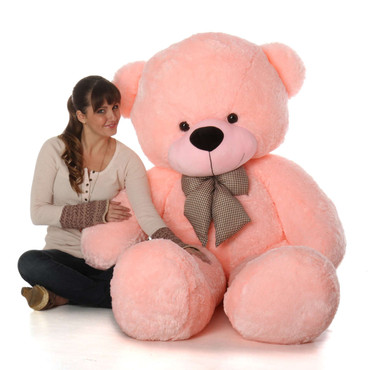72in Life Size Teddy Bear Soft Pink Color Sweet Cuddly
