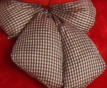 Brown Checkered Bow Tie