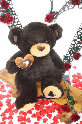 30in Chocolate Brown Sugar Pie Big Love Teddy Bear