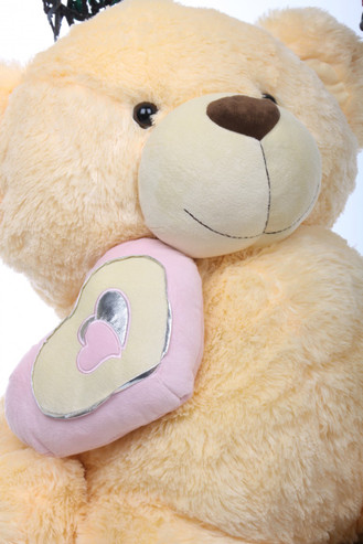 4ft Enormous Cream Teddy Bear Honey Pie Big Love Butterscotch