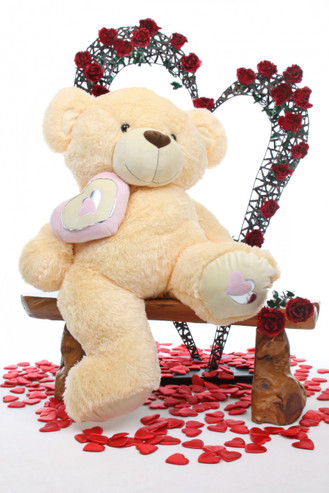 42in Honey Pie Big Love butterscotch cream teddy bear