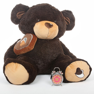 Sugar Pie Big Love chocolate brown teddy bear 47in