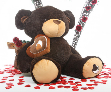 47in Sugar Pie Big Love chocolate brown teddy bear