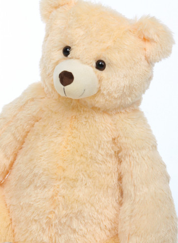 Cream Tiny Heart Tubs Teddy Bear Close Up