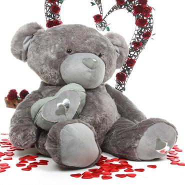 Snuggle Pie Big Love silver teddy bear 56in