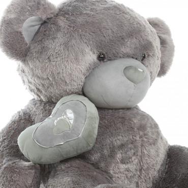 56in Silver Teddy Bear Snuggle Pie Big Love
