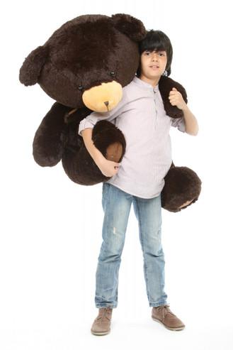 Big Papa Hugs Huggable Chocolate Brown Heart Teddy Bear 45in