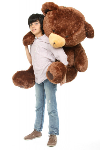 45in Chestnut Brown Teddy Bear Lucky Hugs