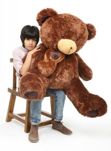 Lucky Hugs chestnut brown teddy bear 45in