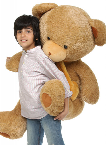 45in Cupid Hugs Big Cute Amber Heart Teddy Bear