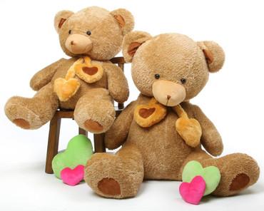 Amber 45in Cupid Hugs Teddy Bear
