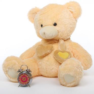Sweet Hugs cream teddy bear 36in