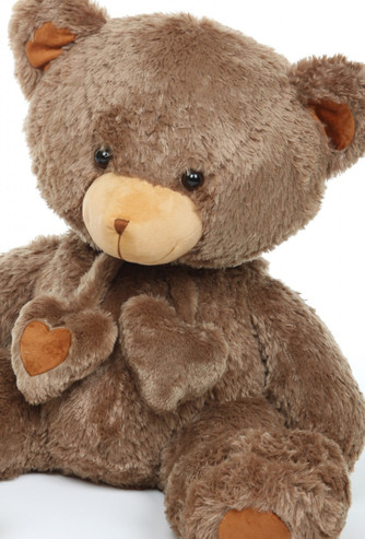 3ft Mocha Brown Huge Teddy Bear Cheeky Hugs