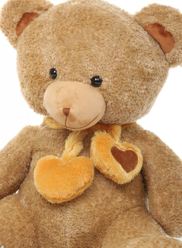 3ft Cupid Hugs Big Cute Amber Heart Teddy Bear