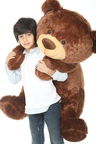 Snoozy Shags chestnut brown teddy bear 45in