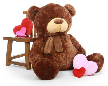 Enormous Chestnut Brown Teddy Bear 45in