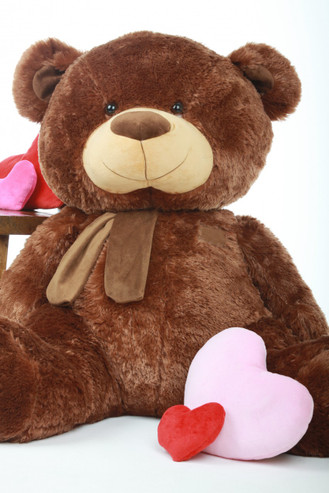 45in Snoozy Shags Chestnut Brown Teddy Bear