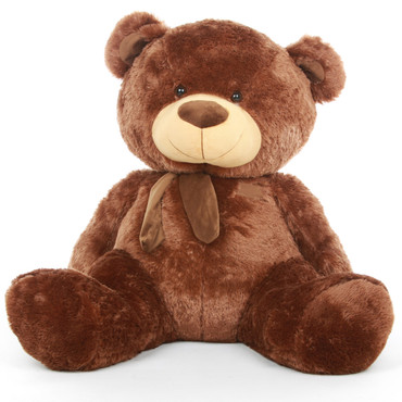 4ft Chestnut Brown Giant Teddy Bear Snoozy Shags