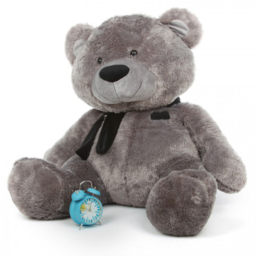45in Diamond Shags Silver Teddy Bear