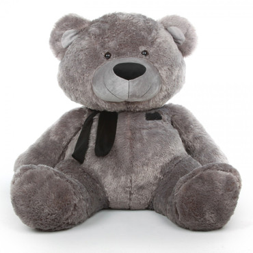 Silver Teddy Bear Diamond Shags 45in