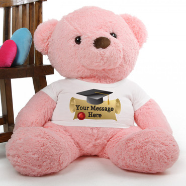 Gigi Chubs Personalized Pink Graduation Teddy Bear 38in
