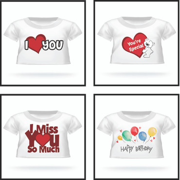 Choose a T-shirt for Your Teddy Bear!
