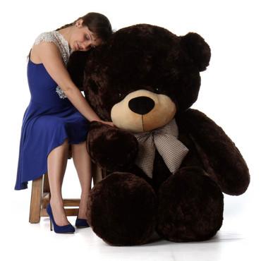 6ft Life Size Teddy Bear Chocolate Brown Fur Brownie Cuddles
