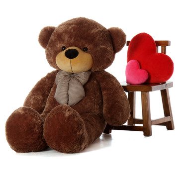 5ft Best Selling Life Size Teddy Bear Sunny Cuddles beautifully soft mocha fur