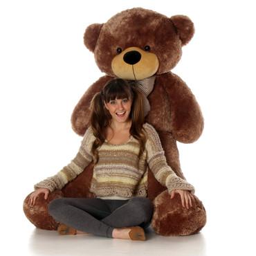 Sunny Cuddles mocha brown teddy bear 60in