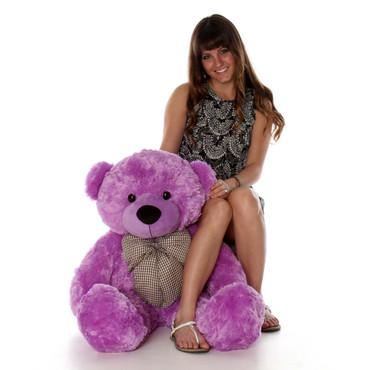 38in Huge Purple Teddy Bear DeeDee Cuddles So Soft and Cuddly