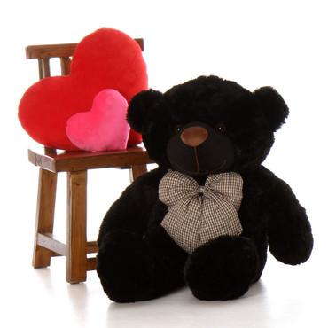 Huge Black Teddy Bear Juju Cuddles 38in