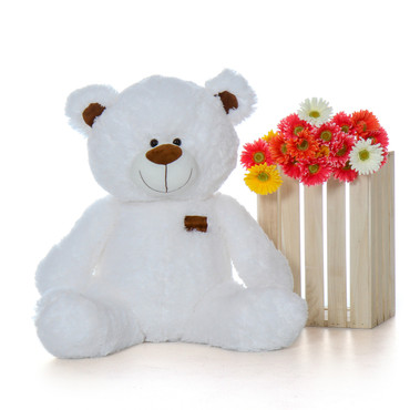 Super Cute Adorable White Shags Teddy Bear