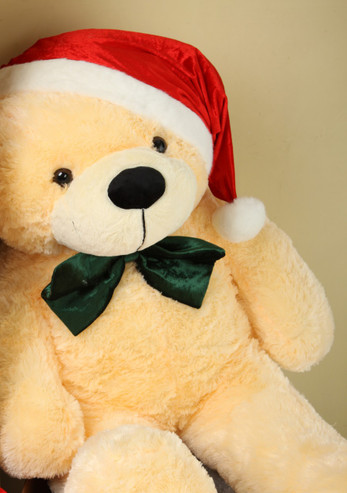 48 inch Cream Holiday Teddy Bear Cozy Christmas Cuddle