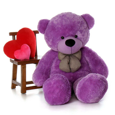 Life Size Purple Teddy Bear DeeDee Cuddles 60in