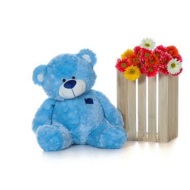 Softest Bear 4 Foot Giant Teddy Blue Big Teddy Bear