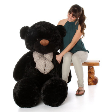 60in Life Size Teddy Bear soft and huggable black fur