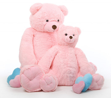 Darling Tubs Extra Cuddly and Soft Pink Teddy Bear 52 inches