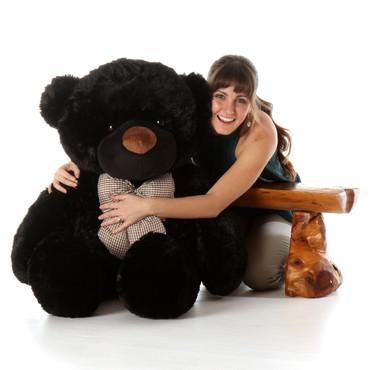 Juju Cuddles Beautiful Big Black Teddy Bear 48in