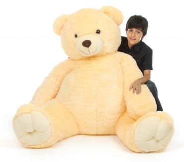 Tiny Tubs Extra Cuddly Huge Vanilla Cream Teddy Bear 65 inches
