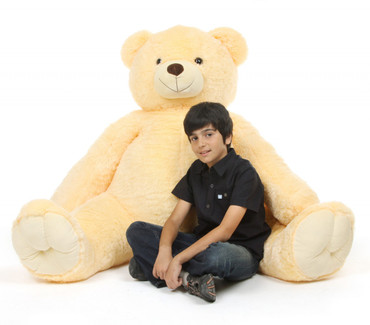 Huge Life Size Cream Teddy Bear Tiny Tubs