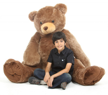 Life Size 65in Mocha Brown Sweetie Tubs Teddy Bear